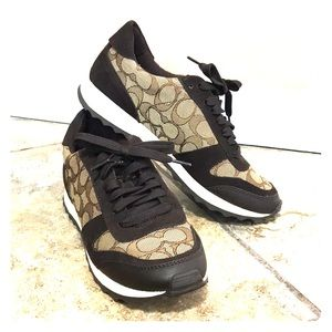 Coach sneakers, signature tan & brown